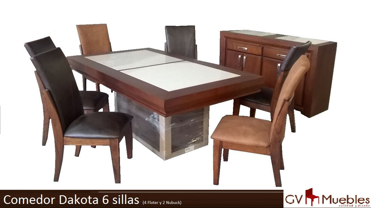 Comedor dakota 6 sillas for Comedores 6 sillas elektra