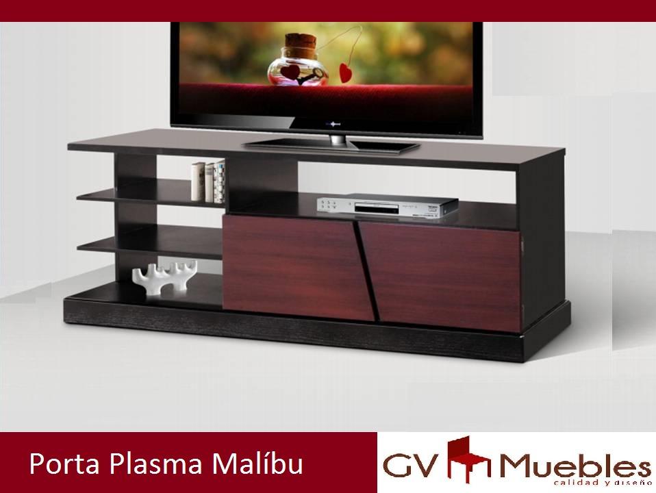 Porta plasma malibu for Malibu muebles